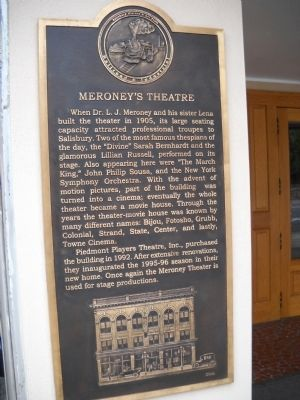 Meroney's Theatre Marker image. Click for full size.