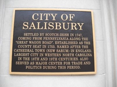 City of Salisbury Marker image. Click for full size.