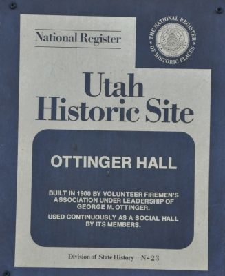 Ottinger Hall Marker image. Click for full size.