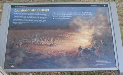 Confederate Sunset Marker image. Click for full size.