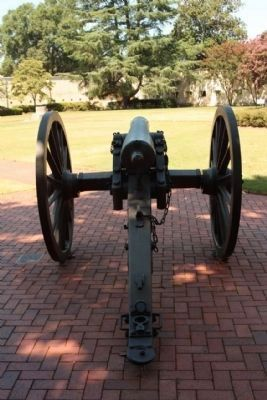 The Augusta Arsenal cannon on display, inside paradeground, east side image. Click for full size.