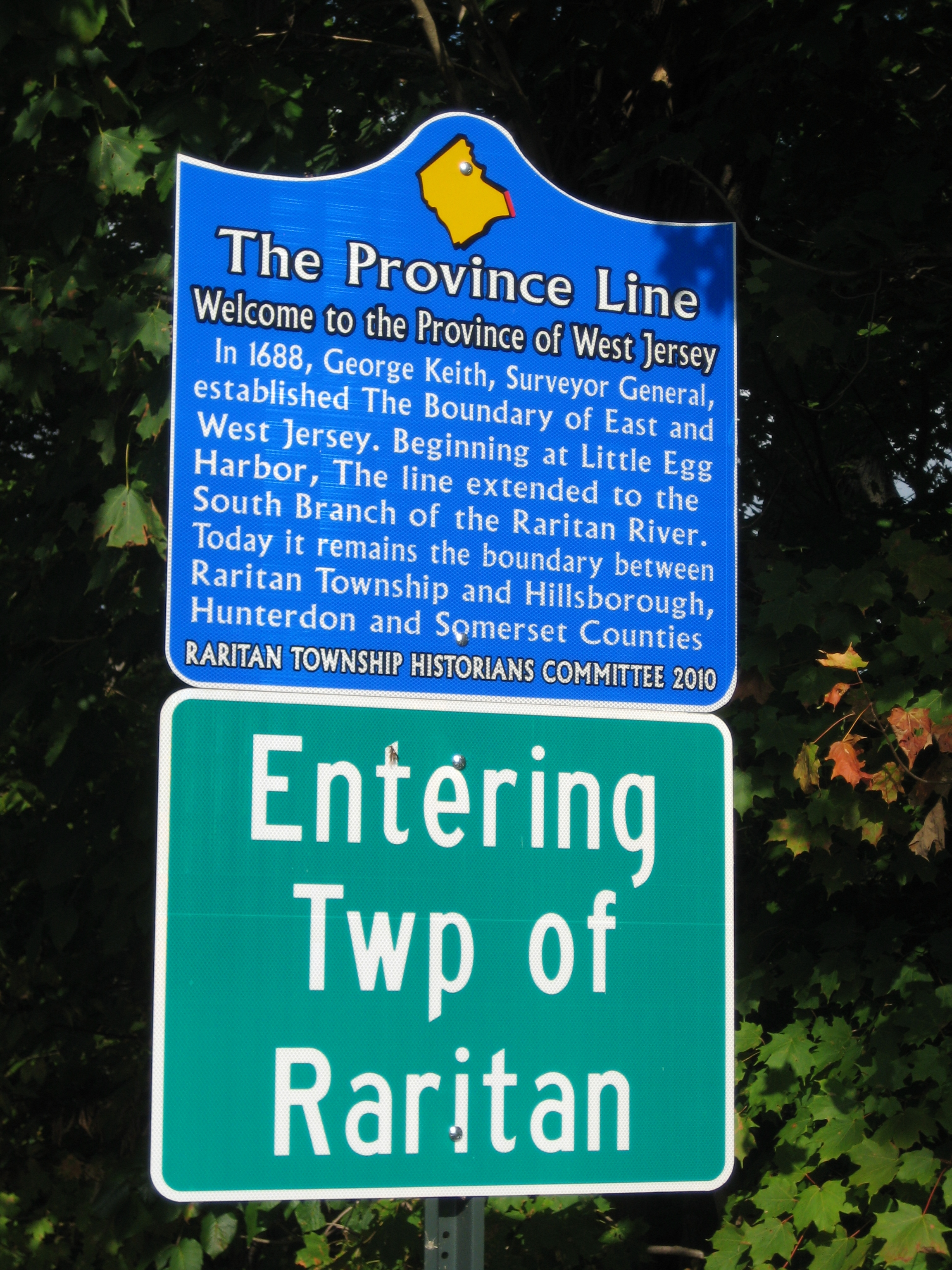 The Province Line Marker