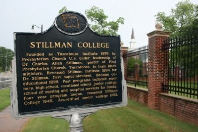 Stillman College Marker image. Click for full size.