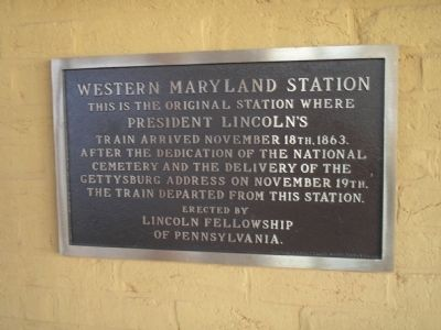 Western Maryland Station Marker image. Click for full size.