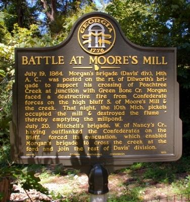 Battle at Moore's Mill Marker image. Click for full size.