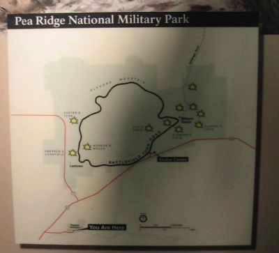 Pea Ridge National Military Park Map image. Click for full size.