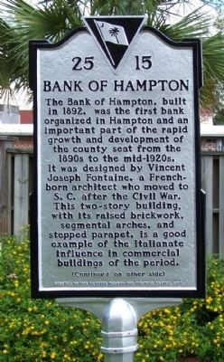 Bank of Hampton Marker image. Click for full size.