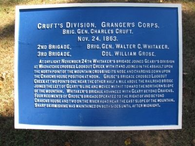 Cruft's Division, Granger's Corps Marker image. Click for full size.