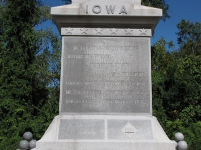 Iowa State Monument image. Click for full size.