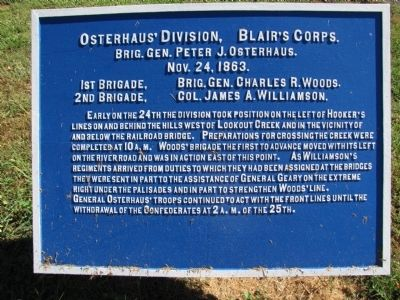 Osterhaus' Division, Blair's Corps Marker image. Click for full size.