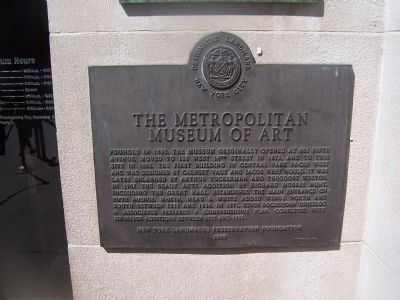The Metropolitan Mueum of Art Marker image. Click for full size.