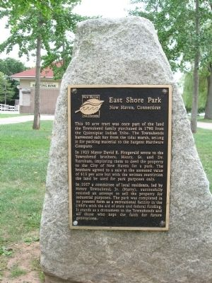 East Shore Park Marker image. Click for full size.