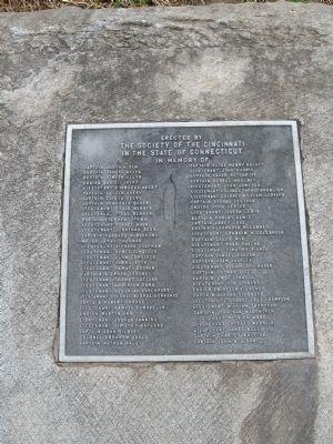 Society of The Cincinnati Memorial Marker image. Click for full size.