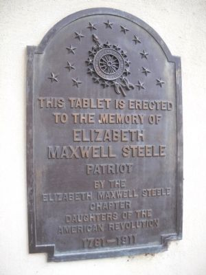 Elizabeth Maxwell Steele Marker image. Click for full size.