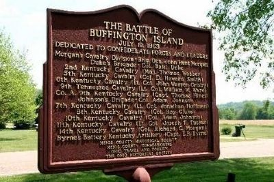 The Battle of Buffington Island Marker image. Click for full size.