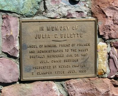 In Memory of Julia C. Bulette Marker image. Click for full size.