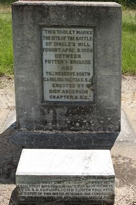 Site of The Battle of Dingle's Mill Marker image. Click for full size.