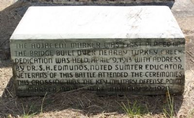 Site of The Battle of Dingle's Mill Lower Marker image. Click for full size.