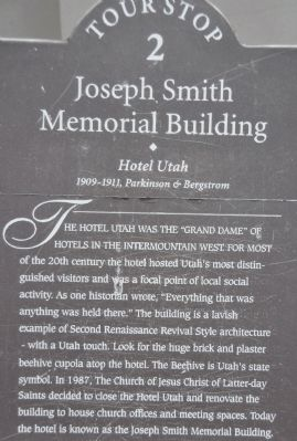 Joseph Smith Memorial Building Marker image. Click for full size.