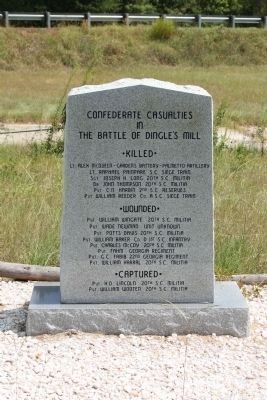 The Battle of Dingle's Mill Confederate Tribute image. Click for full size.