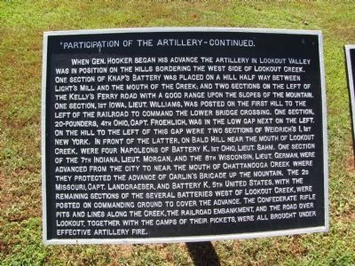 Participation of the Artillery Marker image. Click for full size.