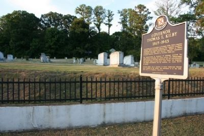 Governor Thomas E. Kilby Marker at Highland Cemetery image. Click for full size.