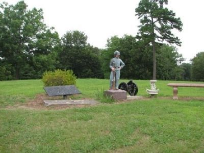 Statue and Memorial Stones image. Click for full size.