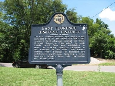 East Florence Historic District Marker image. Click for full size.