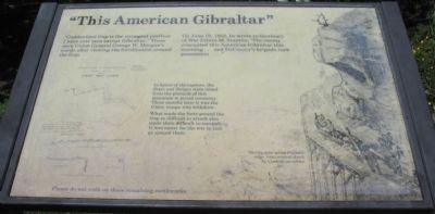 """This American Gibraltar"" Marker image. Click for full size."