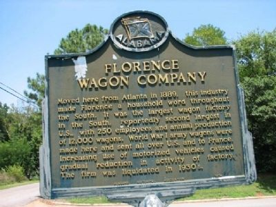 Florence Wagon Company Marker image. Click for full size.