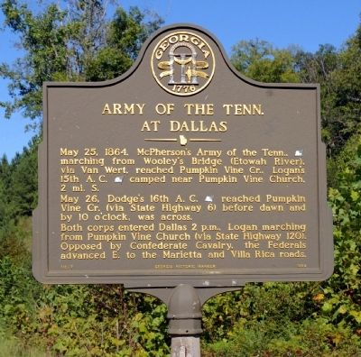 Army of the Tenn. At Dallas Marker image. Click for full size.