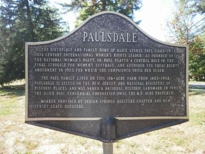 Paulsdale Marker image. Click for full size.