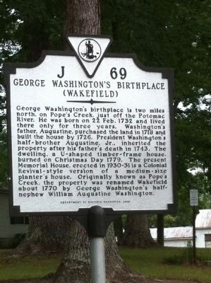 George Washington's Birthplace Marker image. Click for full size.