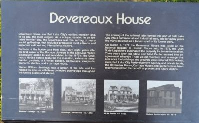 Devereaux House Marker image. Click for full size.