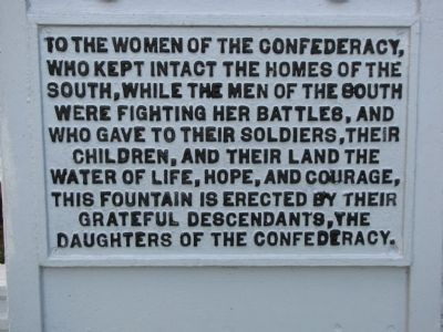 Women of the Confederacy Marker image. Click for full size.