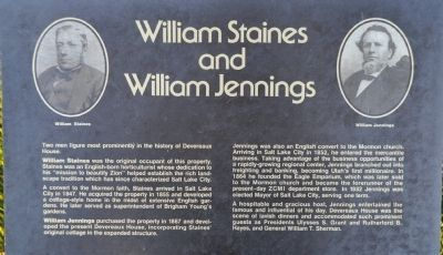 William Staines and William Jennings Marker image. Click for full size.