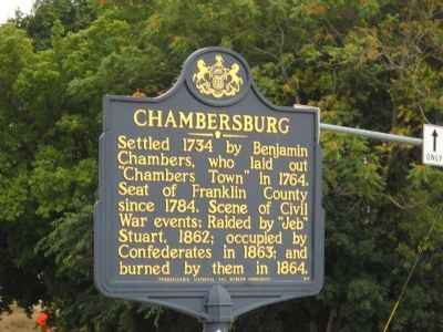 Chambersburg Marker image. Click for full size.