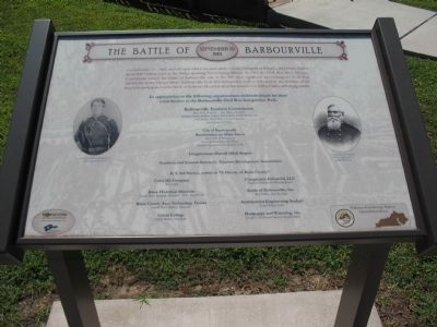 The Battle of Barbourville Marker image. Click for full size.