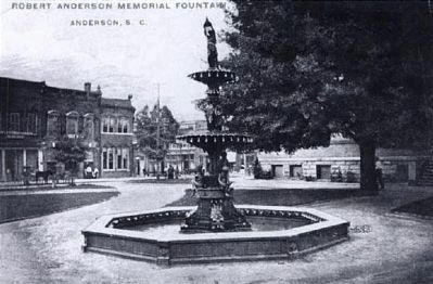 Robert Anderson Memorial Fountain image. Click for full size.