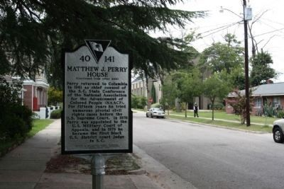 Matthew J. Perry House Marker, looking west on Washington Street image. Click for full size.