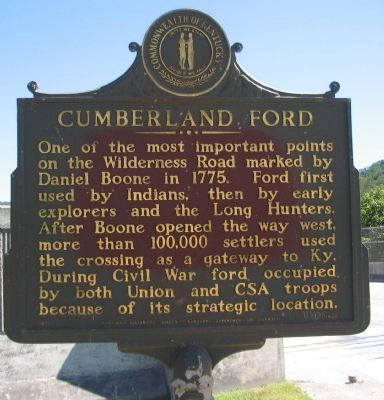 Cumberland Ford Marker image. Click for full size.