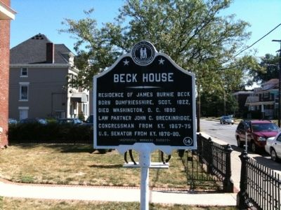 Beck House Marker image. Click for full size.