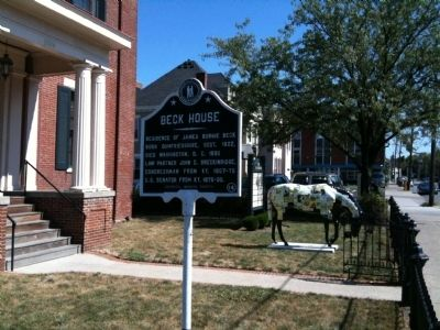 Beck House Marker (2) image. Click for full size.
