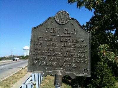 Fort Clay Marker image. Click for full size.