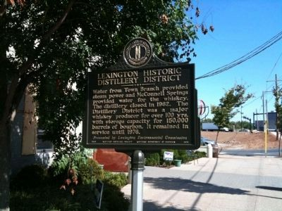Lexington Historic Distillery District Marker - Side B image. Click for full size.