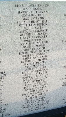 Miami County Veterans Memorial Honor Roll image. Click for full size.