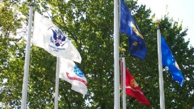 Miami County Veterans Memorial Service Flags image. Click for full size.