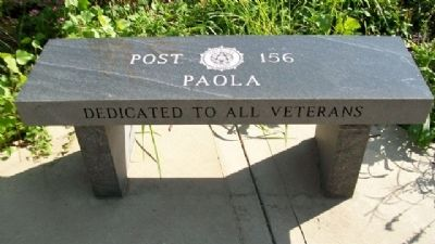 Miami County Veterans Memorial Bench image. Click for full size.
