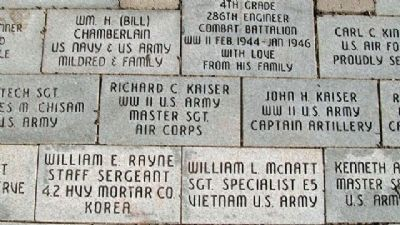 Miami County Veterans Memorial Pavers image. Click for full size.