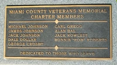 Miami County Veterans Memorial Charter Members image. Click for full size.